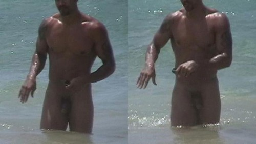 Shemar moore naked on beach